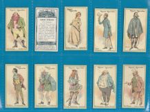 Collectable Tobacco cigarette cards Characters from Thackeray, 1912